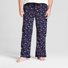 Men's Big & Tall Fleece Pajama Pants - Goodfellow & Co Xavier Navy 4XBT