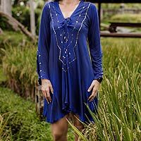 Tunic, 'Exotic Blue' by NOVICA