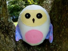 Stuffed Owl Baby Toy by FranconiaRidgeStudio on Etsy, $13.00