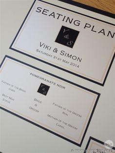 Bespoke Jo Malone themed wedding stationery - steating plan design and print by www.madebyhol.co.uk