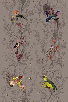 Timorous Beasties Fabric - Birds n Bees fabric