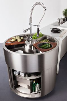 Darty Cuisine - Nos cuisines - Ouverte sur salon - Aquastation - Les raffinés - Glacé