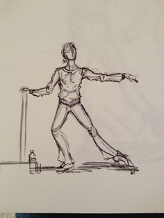 Dancer at the barre sketch. MGV