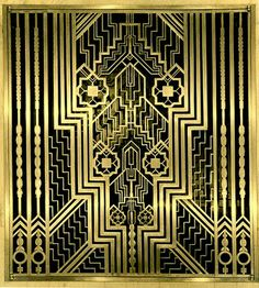 Ely Jacques Kahn's & Albert Buchman - Gilded Bronze Grill