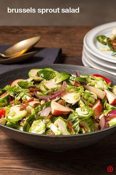 Shake up your salad bowl with this lively Brussels sprouts recipe. Shaved sprouts mingle with crisp sweet apple, crunchy glazed nuts and smoky bacon. A Dijon-spiked dressing pulls it all together.