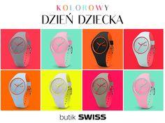 Szukasz prezentu na Dzień Dziecka?  Duży wybór kolorowych zegarków znajdziesz w butiku SWISS w Porcie Łódź. Zapraszamy!