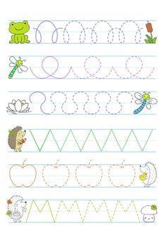 Nursery Activities, Preschool Learning Activities, Preschool Worksheets, Writing Activities, Preschool Crafts, Toddler Activities, Pre Writing, Writing Skills, Very Hungry Caterpillar Printables
