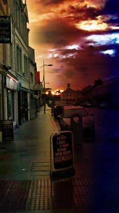 Antrim Town High Street, Northern Ireland. Looks a little apocalyptic. Proud!