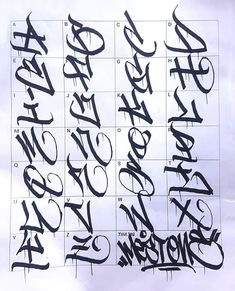Graffiti Letters: 61 graffiti artists share their bomb science style # Lettering Styles Alphabet, Graffiti Lettering Alphabet, Graffiti Alphabet Styles, Tattoo Fonts Alphabet, Tattoo Lettering Styles, Chicano Lettering, Graffiti Styles, Lettering Design, Grafitti Letters