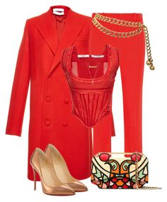 """""""Untitled #1441"""" by styledbyjovonxo ❤ liked on Polyvore featuring Givenchy, Christian Louboutin, Gucci, me you and Chanel"""