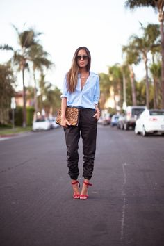 7 Street Style Ways to Rock The Jogger Pants Trend ... | All Women Stalk #FASHION MK BAGS# MICHAEL KORS