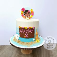 """77 Likes, 2 Comments - Tuyet Huynh (@busybeebyj) on Instagram: """"Baby Moana birthday party is way too cute  and beautiful set up!!! #moanacake #birthdaycake…"""""""