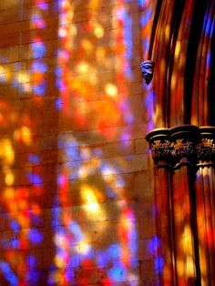 stained glass reflection by sk8dancer, via Flickr