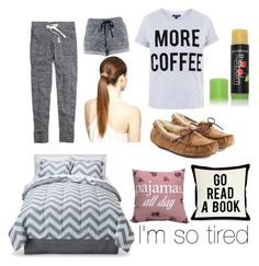 """""""I'm so tired"""" by jayasood ❤ liked on Polyvore featuring Madewell, Topshop, UGG Australia, Room Essentials, One Bella Casa and Glo Minerals"""