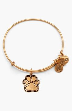 Women's Alex And Ani 'Charity By Design - Prints Of Love' Expandable Wire Bangle