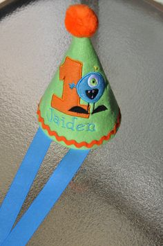 Monster birthday hat