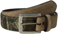 John Deere Mens Camouflage Belt Leather Tabs BrownCamouflage 38 *** Check out the image by visiting the link.