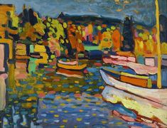 Wassily Kandinsky, Study for Autumn Landscape with Boats, 1908