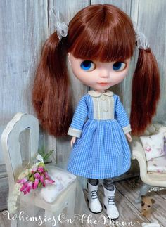 Blythe One Piece Long Sleeve Dress. Blue and by WhimsiesOnTheMoon