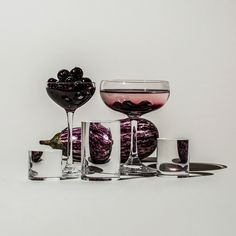 In her ongoing series titled Perspective, photographer Suzanne Saroff creates fractured and skewed images of common foods as seen through vessels filled with water and glass objects. The images play with concepts of light and shadow resulting in distorted still lifes that appear almost like digital