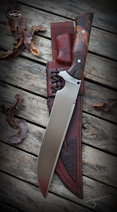 Cool Knives, Knives And Tools, Knives And Swords, Beil, La Forge, Knife Sheath, Handmade Knives, Fixed Blade Knife, Cold Steel