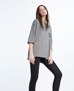 Image 4 of OVERSIZED SWEATSHIRT from Zara