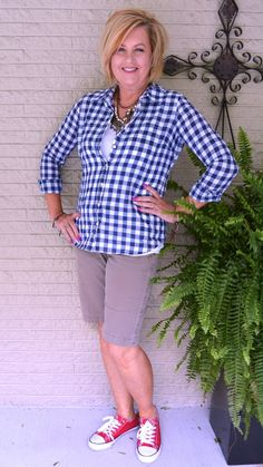 50 IS NOT OLD | EVERYDAY CASUAL OUTFIT | Plaid | Sneakers | Fashion over 40 for the everyday woman.