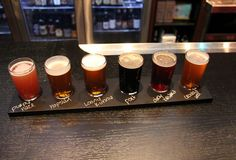 A beer sampler past midnight is a delectable idea, indeed. #OneEyedBettys #Detroit