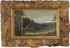 Original oil painting of my friend J. Patrick at Barker Pond, Adirondack's