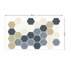 This pack contains various sized hexagon in 5 different shades of colour, for more information, please see pack image.All of our wall stickers…