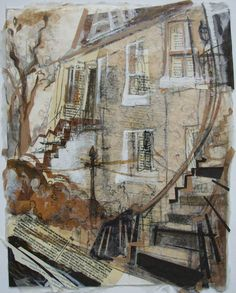 Stockbridge Colonies Steps, Edinburgh Collage with Acrylic and Ink 2015 This is my home turf - I live in the next street. I did some work based on the Stockbridge Colonies almost three years ago, and...