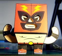 Lucha Libre Paper Toy Series - El Macho - by Mister Manolo - == -  Created by Mexican designer Mister Manolo, here is El Macho, from Lucha Libre Paper Toy Series.
