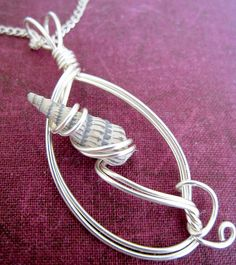 by get wired design ~ I have lots of small shells. Why didn't I think of thi… - Jewelry Ideas Seashell Jewelry, Seashell Necklace, Shell Necklaces, Glass Jewelry, Pearl Jewelry, Wire Jewelry, Jewelery, Jewelry Necklaces, Nautical Jewelry