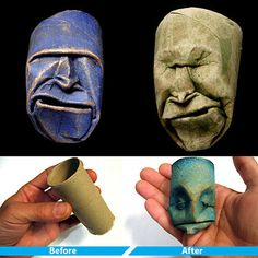 Toilet Paper Roll Art...SOOOO going to do this!!
