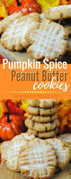 Pumpkin Spice Peanut Butter Cookie Recipe ~ a perfect fall treat with a little pumpkin spice surprise!  I love cooking these with the kids!  http://serendipityandspice.com