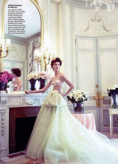 """Karlie Kloss in Christian Dior Haute Couture - """"French Open"""" Vogue September 2010 by Winter Phoenix, via Flickr"""
