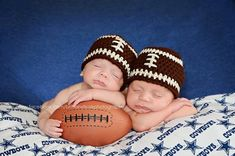 Newborn Football Hat, Baby Photo Prop, Adult Football Hat on Etsy, $15.00