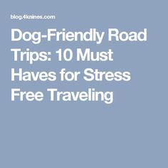Dog-Friendly Road Trips: 10 Must Haves for Stress Free Traveling