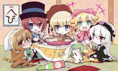 Tags: Anime, Rozen Maiden, Suigintou, Hinaichigo, Shinku, Suiseiseki, Souseiseki
