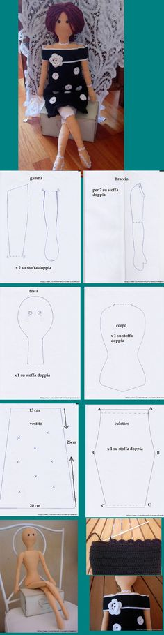cloth doll pattern, very easy to make