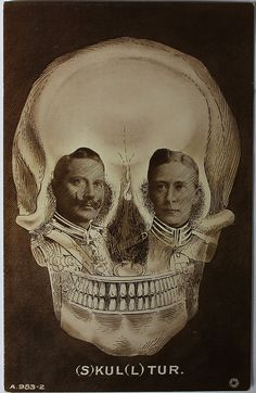 Cabinet card: Skull Optical Illusion Postcard