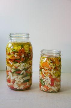 Pickled Giardiniera Recipe // @nicoledula