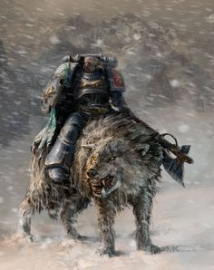 Space Marine of the Space Wolves Chapter Warhammer 40k Space Wolves, Warhammer 40k Art, Space Marine, Space Wolf, Samurai, Age Of Sigmar, The Grim, Sci Fi Fantasy, Dark Fantasy