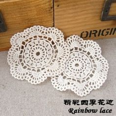 Aliexpress.com : Buy free fee wholesale 7.5cm cloth Tiehua flower Cotton Lace Doilies hand made Crochet cup mat Crochet Lace Doily from Reliable cotton lace for craft suppliers on HYD Garment Accessories Co.,Ltd