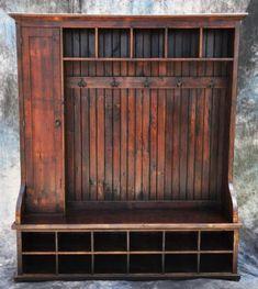 Beekeeper's Cottage — Reclaimed Barnwood Large Mudroom Piece with Door