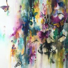 Katy Jade Dobson Art - 'Flutter' - Butterfly oil painting