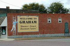 Graham, Texas welcome mural