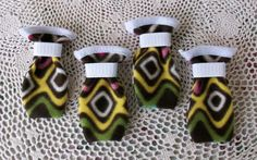 Medium Multi-Colored dog Booties by Mutt Mania on Etsy, $15.00