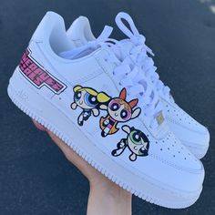 Nike Shoes OFF!> Custom Nike shoes with Powerpuff girls design! Each Nike low is handmade with love! Jordan Shoes Girls, Girls Shoes, Ladies Shoes, Cool Shoes For Girls, Cute Things For Girls, Shoes Women, Sneakers For Girls, Shoes For Teens, Cute Girl Shoes