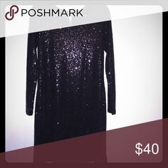 Kenzie Black Sequin Dress Long Sleeve Black Sequin Dress. Perfect for Cocktail/Holiday Party. Only Worn 1x. Excellent Condition. Kensie Dresses Long Sleeve